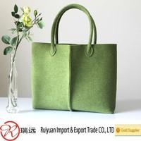 Wholesale Grass Green felt shoulder bag ,tote bag ,casual bag designed new for 2015