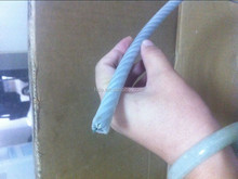 market leader of pvc coated steel wire rope 6x7+fc transparent color