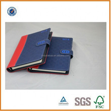 2014 leather loose-leaf notebook PU hardcover notebook refillable note book with card slot and file pocket