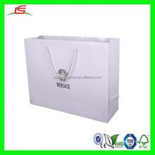 NZ183 Logo Printed Elegant Design Large Capacity Cheap White Paper Bags Shopping Bag Design