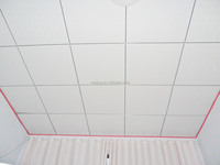 vinyl faced PVC gypsum ceiling tiles new building construction materials made in China