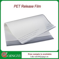 China qingyi clear transparent pet film for offset printing