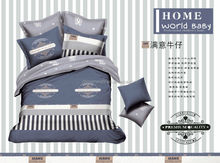 100% Cotton Jeans Background Bedding Sets for kids Twin Size China Factory