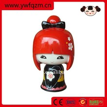 resin female figure,women figures resin,souvenir resin figure kokeshi