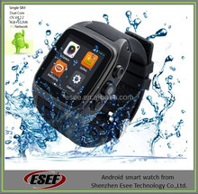 Cheapest 1.54 Inch stainless steel 1.2GHz CPU Wifi GPS 3G Dual Core Android watch phone
