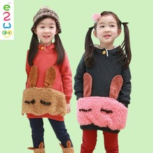 Winter Children Casual Clothing Set With Rabbit Pattern