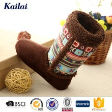 Brown cashmere&suede breathable buy ladies long boots