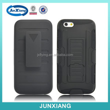 New products pc silicon hybrid robot case for iphone 6 with belt clip kickstand