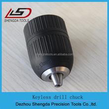 3 jaws black plastic keyless drill chuck