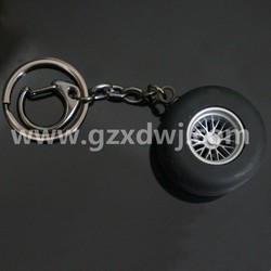 Custom Promotional ABS tire Key chain car parts l Keychains/tire key holder