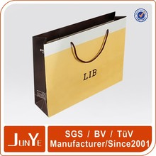 fashion glossy luxury paper shopping bags with logo printed