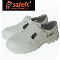 White sandal mens steel toe cap safety shoes