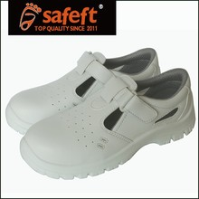 White sandal mens steel toe cap safety shoes