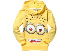 new arrival lovely minion boys printing long sleeve kids t-shirt design