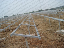 Galvanized solar panel mounting structures