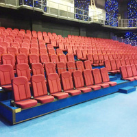 Outdoor retractable bleacher seating padded stackable chairs