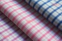 100%cotton check poplin yarn dying fabric