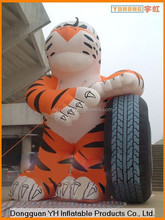 customized inflatable cartoon tiger model manufacturer in Dongguan