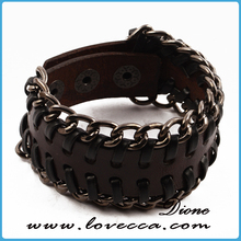 Multi Colors Cool Fashion Trends Cross Type Crochet Leather Bracelet