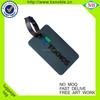Custom standard size bag tag cheap soft pvc travel luggage tag