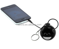 Promotional gift key ring round mini phone speaker portable keychain speaker share your music everywhere