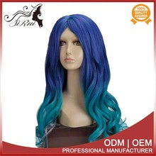 Factory Price Wholesale New Design Synthetic Wig , Braid Synthetic Wig,#27 Mixed With #30 Kanekalon Fiber Synthetic Wig