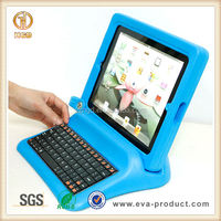 Two-piece cartoon EVA cover case for ipad3&4 with keyboard,SGS ,REACH and RoHS approved