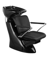 2015 Popular Hair salon washing chairs with fiber glass base/Black Salon Furniture for sale