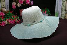 Women Girl Floppy Paper Straw Hat Wide Large Brim Sun Summer Beach Hat