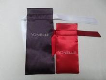 popular satin cosmetic bag with ribbon,satin perfume packing