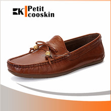 Brown mens office leather shoes casual men shoe size