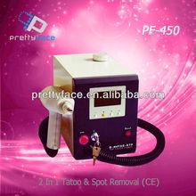 PF-450 2015 hot sale 2 in 1tatoo&spot removal beauty salon equipment