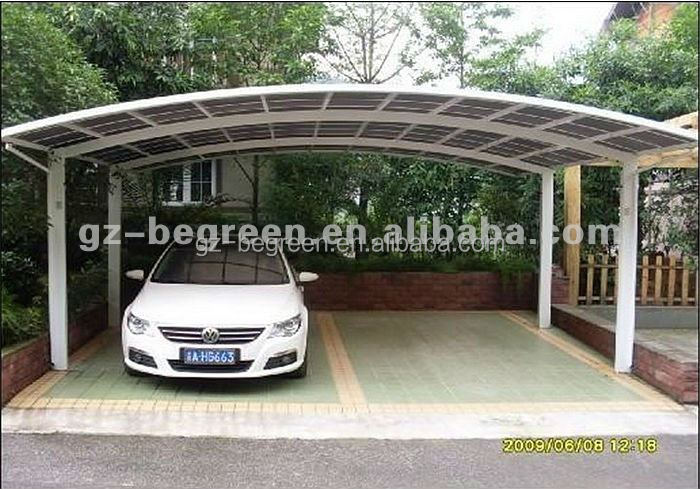 Metal Vehicle Shelters : Aluminum metal frame car shed shelter outdoor used two