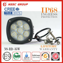High Quality NSSC manufacturing heavy duty auto parts led work light 35w,high power led driving lights with lifetime warranty