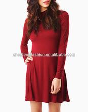 CHEFON Long Sleeve Turtleneck Dress