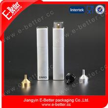 10ml silver luxury aluminum rotary type perfume atomizer bottle with spray