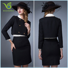 Fashion designed black frock suits for women