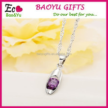 Promotional Nice Zircon Necklace Chain Fashion Crystal Pendant Necklace