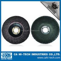 Angle grinder mounted Fiber glass backing Calcined Flat Flap Disc