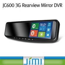 JC600 android car toy smart mirrors car gps navigator with wifi free client software h.264 dvr