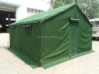 Green military canvas single layer camping tent for 5 person