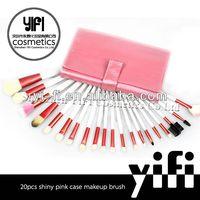 Pro pink 20 pcs makeup brush Case discount brand name makeup brush