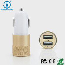 Intelligent IC Metal Car Chargers For Smartphone 3.1A Mobile Phone Car Charger