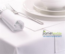 100% Polyester blank White Hotel Restaurant Table Cloth