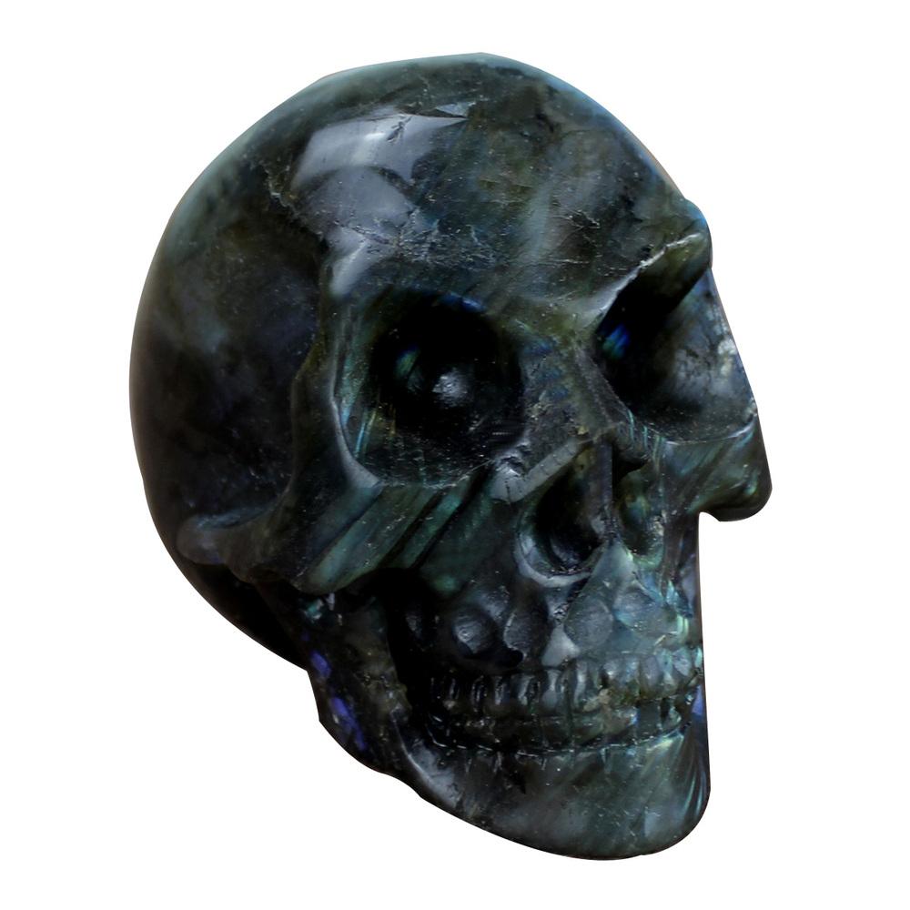 Hot wholesale labradorite inch carved skull sculpture