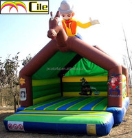 CILE Inflatable Indoor Playground with Riding Horse Cartoon Decoration Bouncer Castle