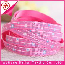 Weifang manufacture hot sell stripe shape printed ribbon