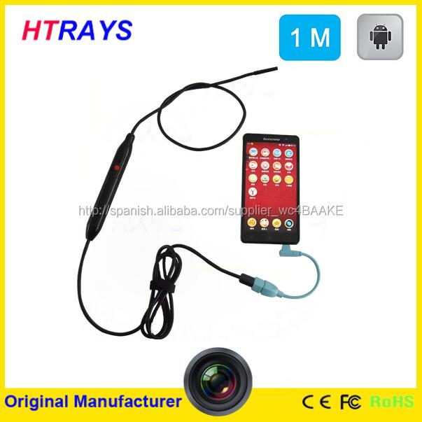 Otg endoscopio 5.5 mm 50 CM serpiente mini cámara impermeable del endoscopio 6 LED ajustable