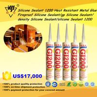 Silicone Sealant 1200 Heat Resistant Metal Glue/Fireproof/GP/Density Silicone Sealant 1200