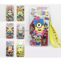New Cartoon Stand Holder Case For Cell Phone Despicable Me Minion Stents Support For iPhone 6 Plus 5.5 Inch Cover Case